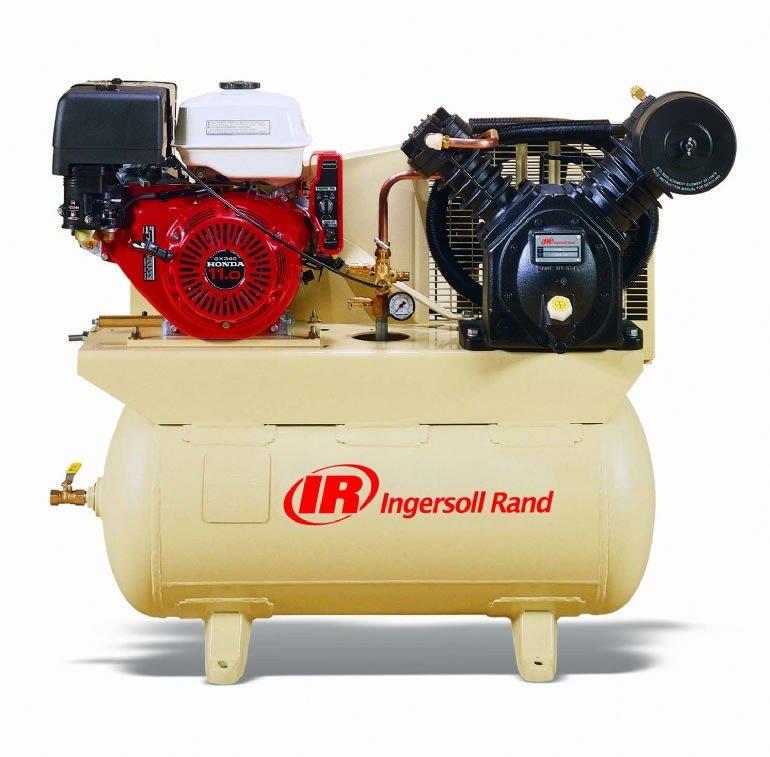 13 HP Gas Powered Air Compressor Ingersoll Rand 2475F13GH Honda