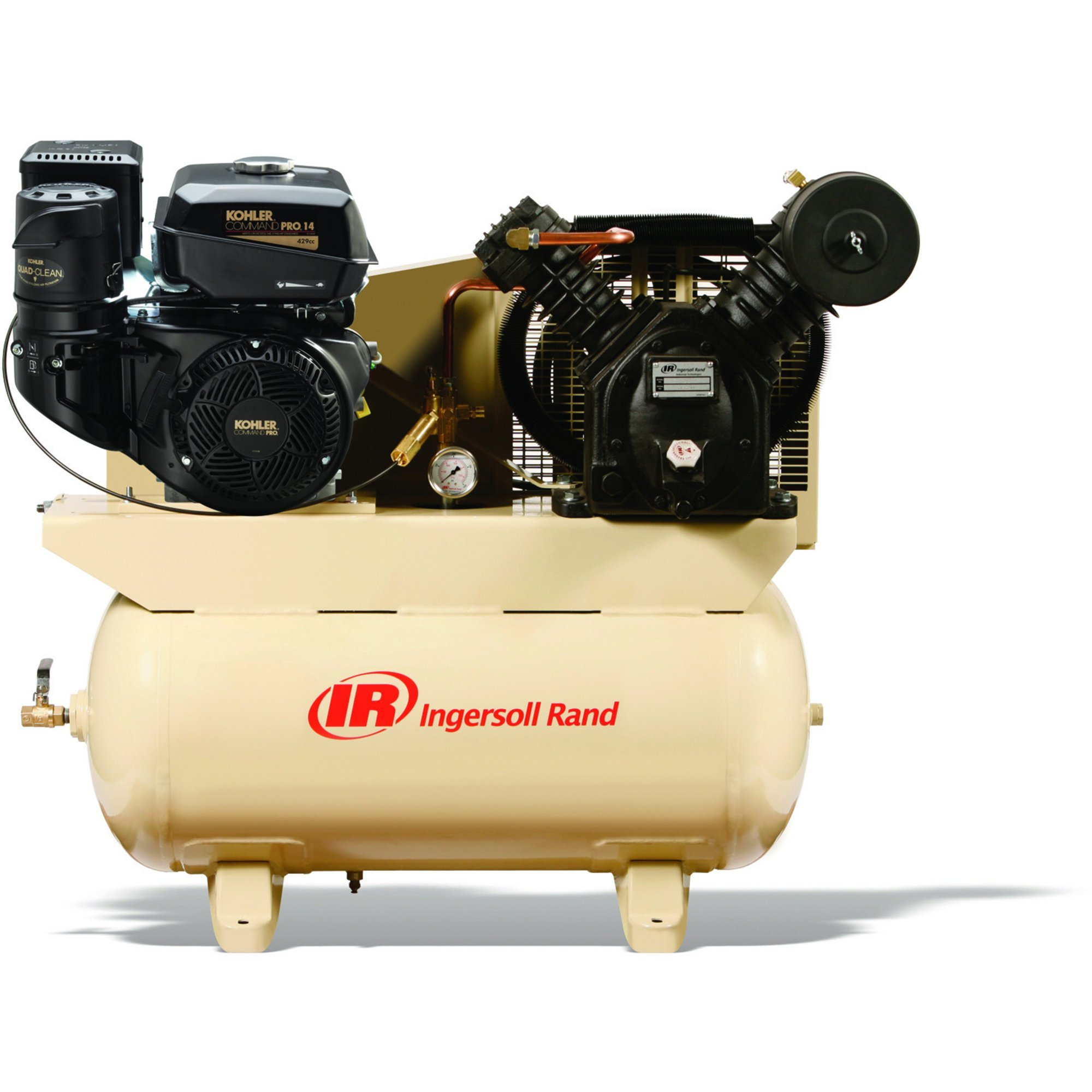14 Hp Gas Powered Air Compressor Ingersoll Rand 2475f14g